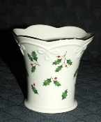 Lenox Dimension Holiday Holly Votive Candle Holder