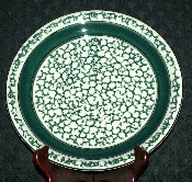 Tienshan Country Crock Green Sponge Dinner Plates