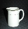 Wood & Sons Vitrified Ware Green Stripe Creamer