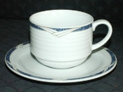 Noritake Arctic Blue Contemporary Fine China Cup & Saucer Sets