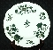 Spode Felspar Porcelain Forest Green & Gold Floral Dinner Plate