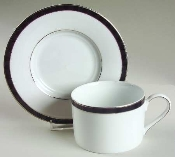 Nikko Fine China Black Tie Cup & Saucer Sets