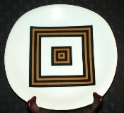 Montgomery Ward Style House Eames Era Geometric Dinner Plates
