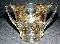 Indiana Glass Gold Stained Bosc Pear Sugar Bowl