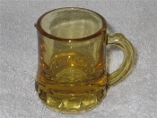 Vintage Depression Federal Glass Amber Mini Shot Glass