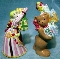 Nikko Christmas Doll & Bear Salt & Pepper Shakers