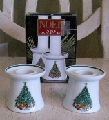Salem China Don Schreckengost Noel Candle Holder Pair
