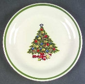 Mt Clemens Pottery Christmas Tree Salad Plates