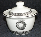 Pfaltzgraff Farmers Market Black & White Sugar Bowl