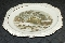 Harker Pottery Royal Gadroon Currier & Ives Square Salad Plate