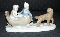 Paul Sebastian Fine Porcelain Winter Sleigh Ride Figurine