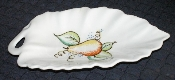 Crooksville Pottery Iva-Lure Orchard Leaf Shaped Handled Dish