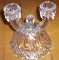 Imperial Glass Traditions 165 Crystal Double Candle Holders