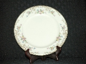 Steubenville Pottery Ivory Floral China Dinner Plates 1085