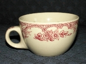 Wellsville San Tan Majestic Red Restaurant Ware Tea Cups