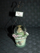 Pfaltzgraff Naturewood Mini Globe Hanging Ornament