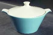 Royal China Retro Blue Heaven Covered Casserole