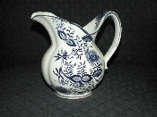 Blue Onion Water Pitcher Vintage Enesco Japan