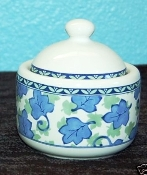 Pfaltzgraff Blue Isle Covered Sugar Bowl