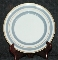 Williams Sonoma Blue & Gold Banded Dessert Plate Set