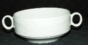 Steelite Albalite Bone China Embossed Floral Cream Soup Bowls