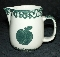 Tienshan Folk Craft Green Sponge Apple Creamer