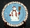 Debbie Mumm Sakura Snowman Set of Four Salad Plates
