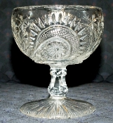 US Glass EAPG Slewed Horseshoe Water Goblet