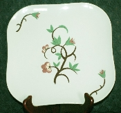 Weil Ware Fantasia Green Dinner Plates