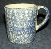 Robinson-Ransbottom Roseville Blue Sponge Mugs