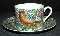 Haldon Group Porcelain Parakeet Cup & Saucer Sets