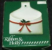 Mt. Clemens Pottery Ribbon & Holly Letter Holder
