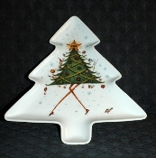 Royal Worcester Clare Mackie Dancing Tree Platter