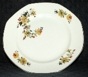 Homer Laughlin Yellowstone Red & Yellow Floral Dinner Plates