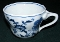 Blue Danube Blue Onion Ribbon Mark Tea Cups