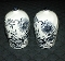 Blue Onion Salt & Pepper Shaker Set Vintage Enesco Japan