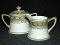 Noritake Antique Moriage Hand Painted Art Deco Cream & Sugar