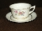 Canonsburg Pottery Keystone CAN20 Floral Cup & Saucer