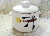 Vintage West Bend Patio Server Bean Pot Covered Casserole