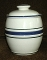 Tienshan Folkcraft Blue Country Crock Cookie Jar Canister