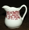 Jackson China Jessica Restaurant Red Transferware Creamer