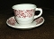 Jackson China Jessica Restaurant Red Transferware Cup Saucer Set