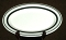 Buffalo China Restaurant Ware Black Stripe Large Platters