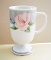 Saltera Victorian Rose Porcelain Footed Mugs