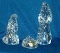 Princess House Crystal Nativity Three Piece Set