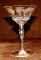 Morgantown Glass Needle Etch Mayfair Crystal Champagne Glasses