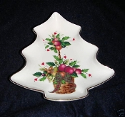 Lenox Holiday Tartan Tree Candy Dish
