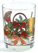 Culver Yule Horn Double Old Fashion Glasses Set