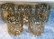 Eames Era George Briard Gold Filigree Scroll High Ball Glass Set