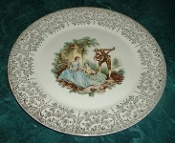 American Limoges Serenade China D'Or Dinner Plates